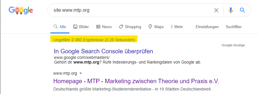 SEO Google Indexierung