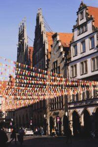 Münster Prinzipalmarkt geschmückt